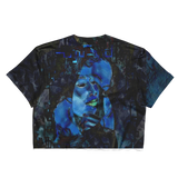 Blue Green Sensation Ladies Crop Top