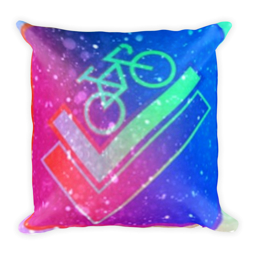 Bike It Up Square Pillow