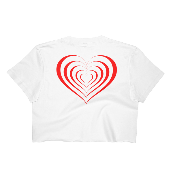 Lady Bug Love Hearts Women's Crop Top
