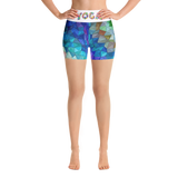 Colorful Rainbow Yoga Shorts