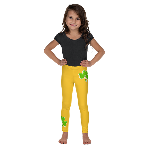 Green Shamrock Kid's Leggings