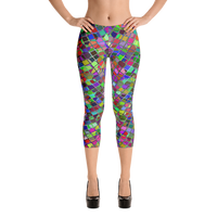 Colorful Tile Capri Leggings