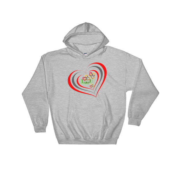 Love of Hearts Hooded Sweatshirt