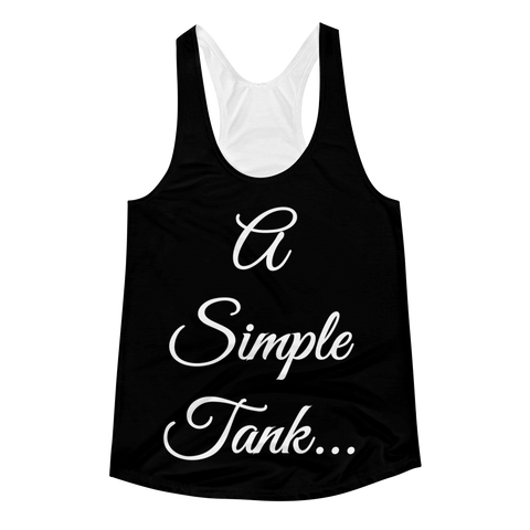 A Simple Tank Women's Racerback Tank-ADVERTISE