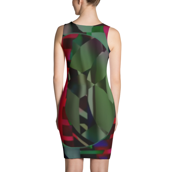 Red Green Sublimation Cut & Sew Dress