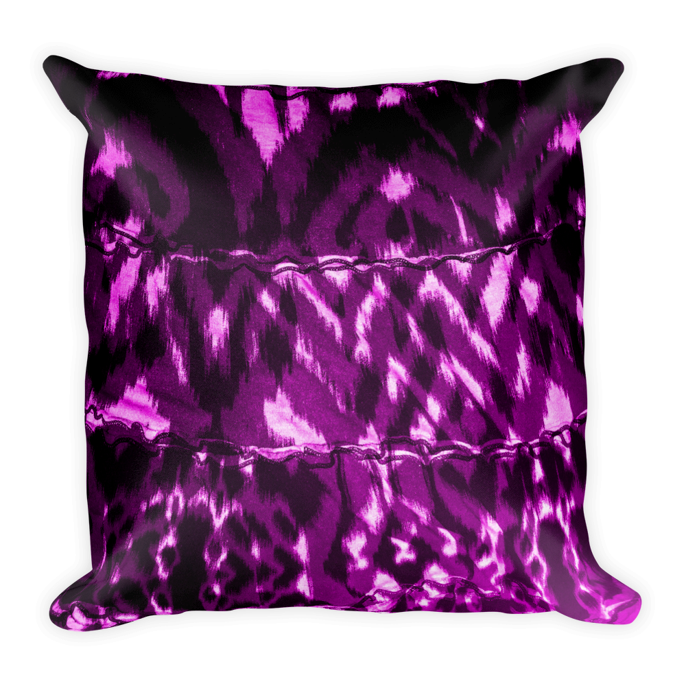 Purple Animal Square Pillow