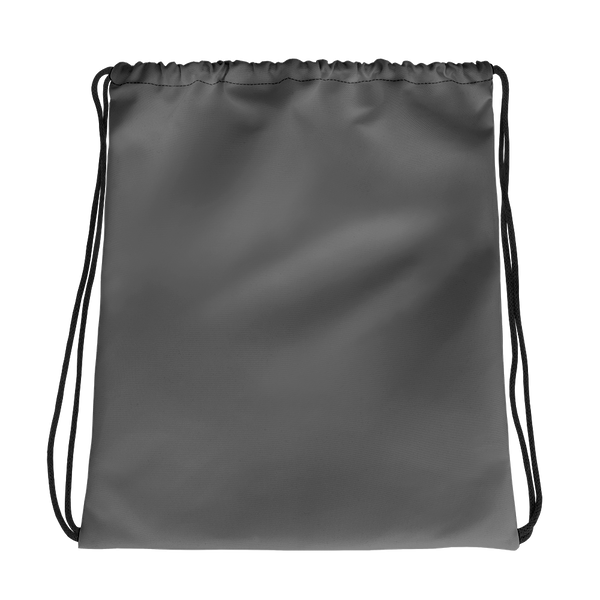 All Dark Grey Drawstring bag