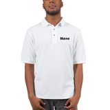 'Here' Embroidered Polo Shirt (CREATE YOUR PERSONALIZED DESIGN)