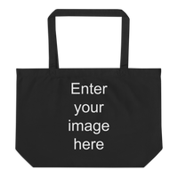 Large organic tote bag (CREATE YOUR PERSONALIZED DESIGN)