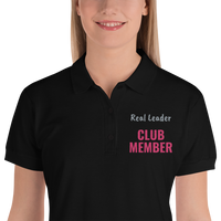 Real Leader Embroidered Ladies Polo Shirt
