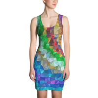 Rainbow Waves Sublimation Cut & Sew Dress