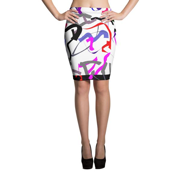 All Over Sprinkles Pencil Skirt