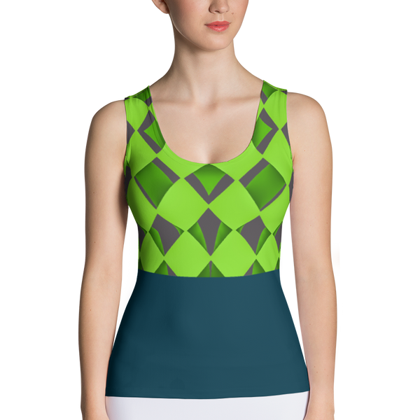 Diamond Teal Sublimation Cut & Sew Tank Top