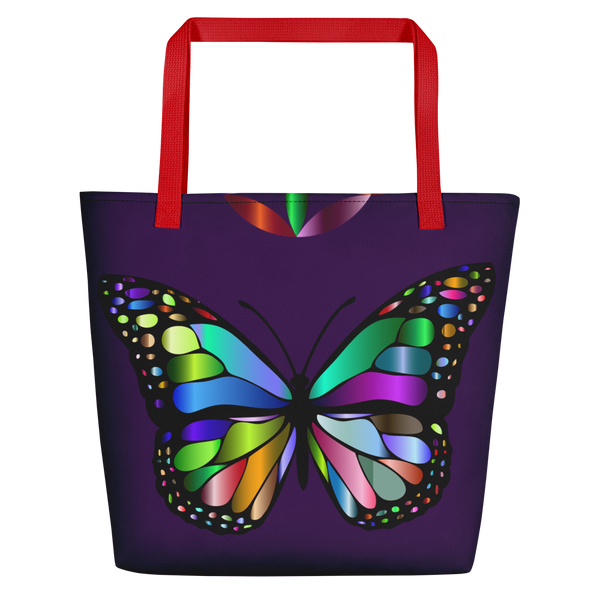 Butterfly Color Ring Beach Bag