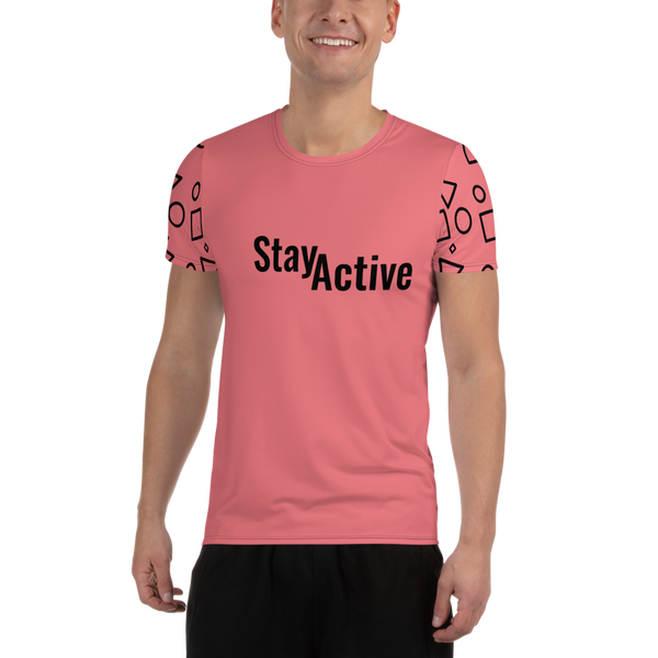 Stay Active All-Over Print Men's Athletic T-shirt