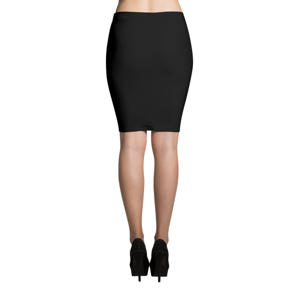 All Black Everything Sublimation Cut & Sew Pencil Skirts