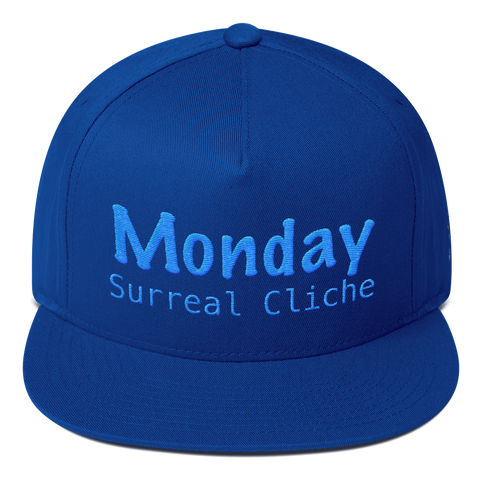 Monday Surreal Cliche Flat Bill Cap