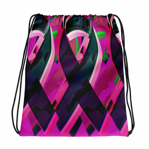 Colorful Ribbon-S Drawstring Bag