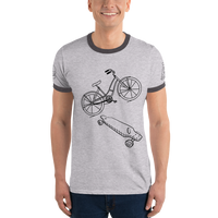 Active Eater Ringer T-Shirt (CREATE YOUR PERSONALIZED DESIGN)