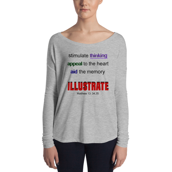 Illustrate Ladies' Long Sleeve Tee
