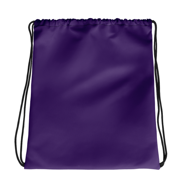 All Purple Drawstring bag