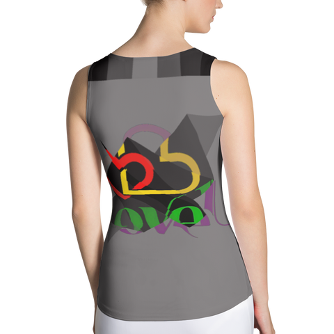 Love U Sublimation Cut & Sew Tank Top