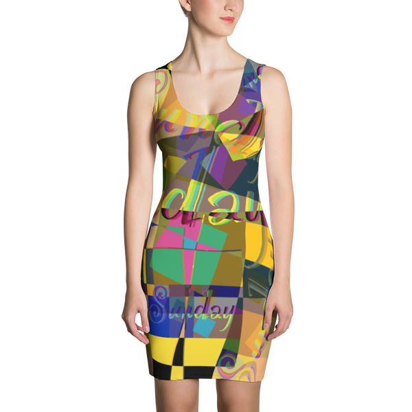 Sunday Maze Sublimation Cut & Sew Dress
