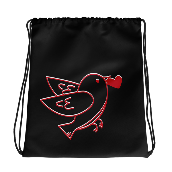 Love Bird Drawstring bag
