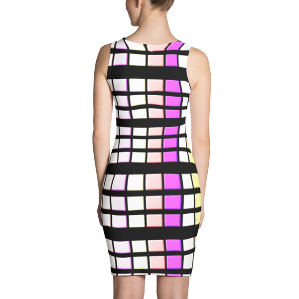 Small Squared Colors Sublimation Cut & Sew Dress