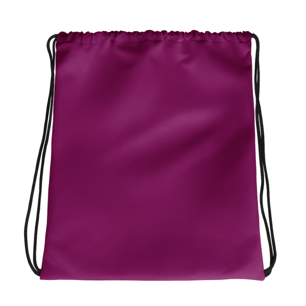 All Fuschia Drawstring bag