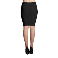 Black Diamond Checkered Sublimation Cut & Sew Pencil Skirt