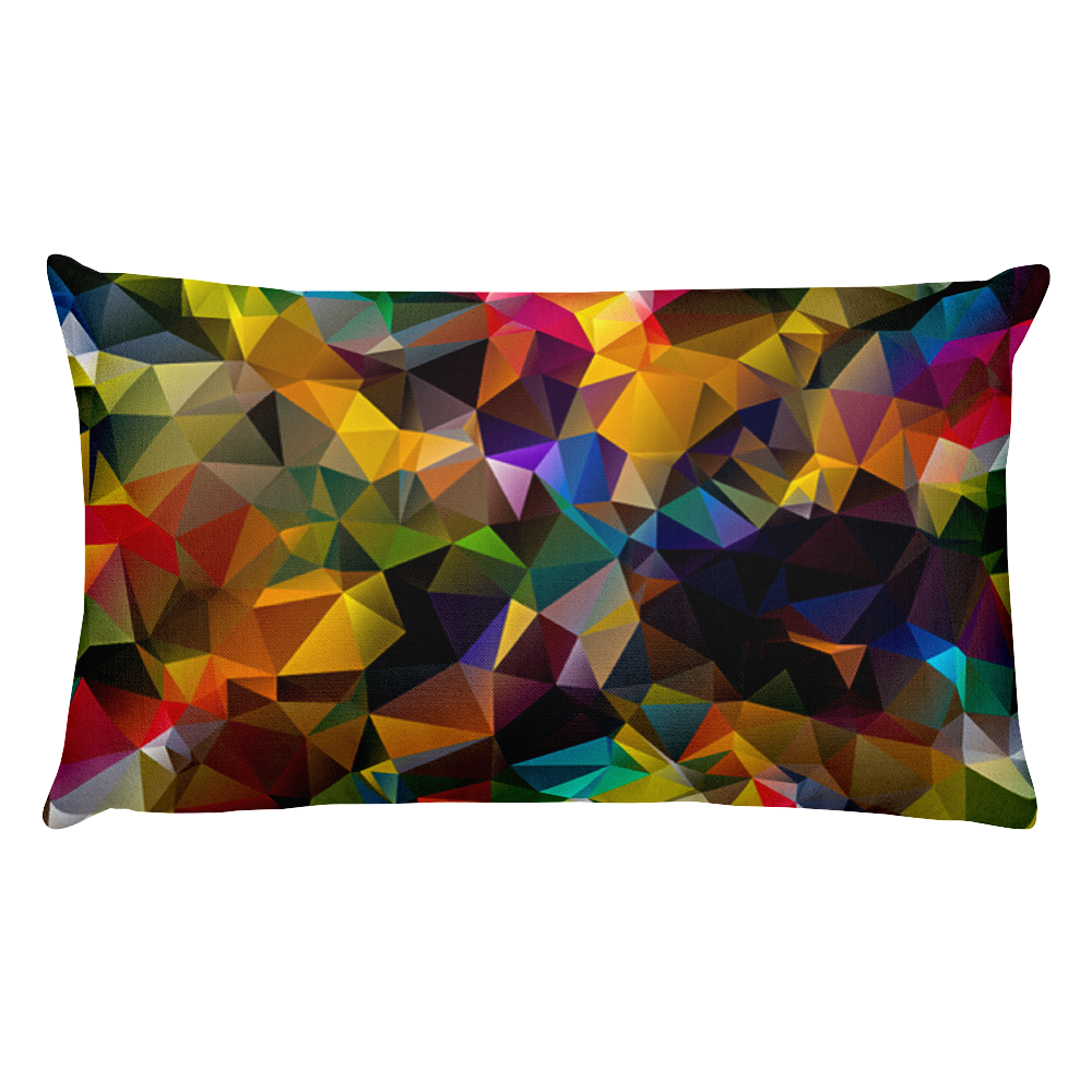Colorful Two-Side Maze Rectangular Pillow