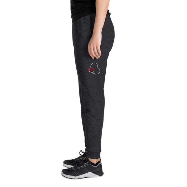 FAITH Love Heart-w/r Unisex Joggers