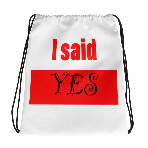 He Asked Drawstring Bag