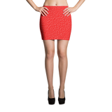 Red Explosion Sublimation Cut & Sew Mini Skirts