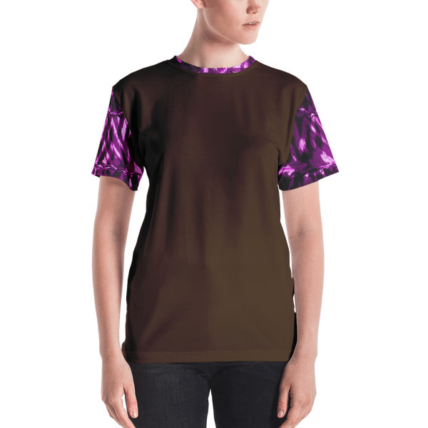 Dark Brown Purple Animal Women's T-shirt