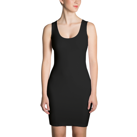 All Black Sublimation Cut & Sew Dress