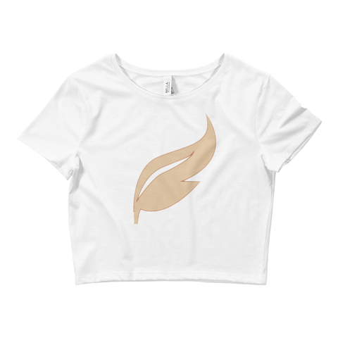 Feathered Top Hat Women's Crop Tee