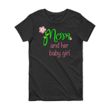 Mom and Her Baby Girl Short Sleeve Women's T-shirt