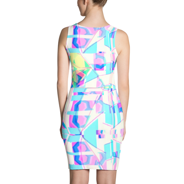 Crazy Color Maze Sublimation Cut & Sew Dress