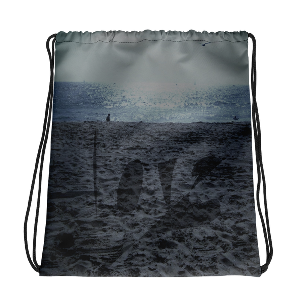 Love In The Sand Drawstring bag