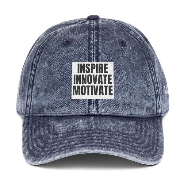 INSPIRE INNOVATE MOTIVATE Vintage Cotton Twill Cap