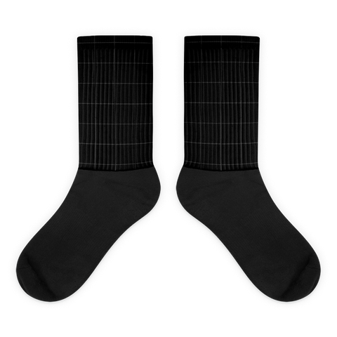 Squared Black Foot Socks
