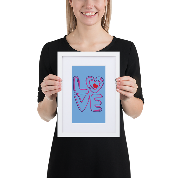 L💜VE Matte Paper Framed Poster With Mat