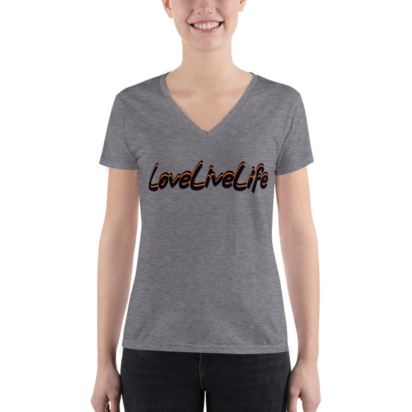 LoveLiveLife Women's Fashion Deep V-neck Tee