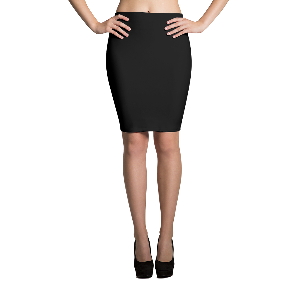 Black Diamond Checkered-B Sublimation Cut & Sew Pencil Skirts