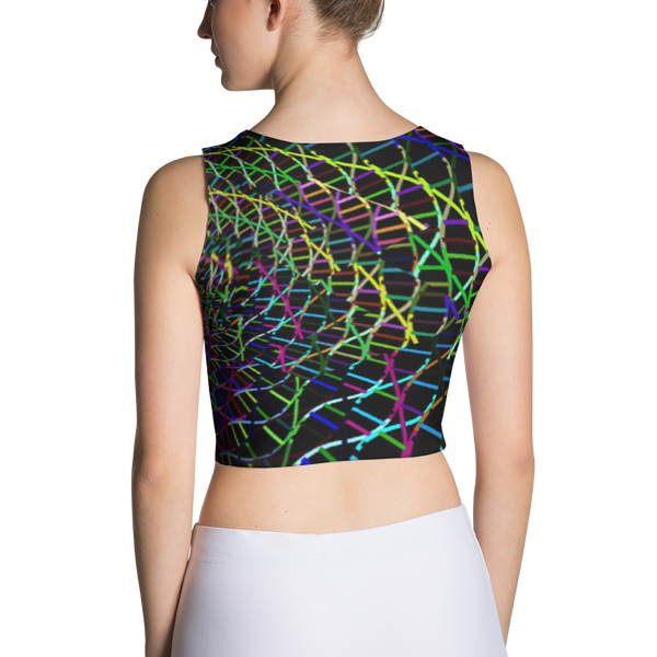 Swirly Swirl Sublimation Cut & Sew Crop Top
