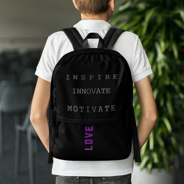 INSPIRE INNOVATE MOTIVATE Backpack