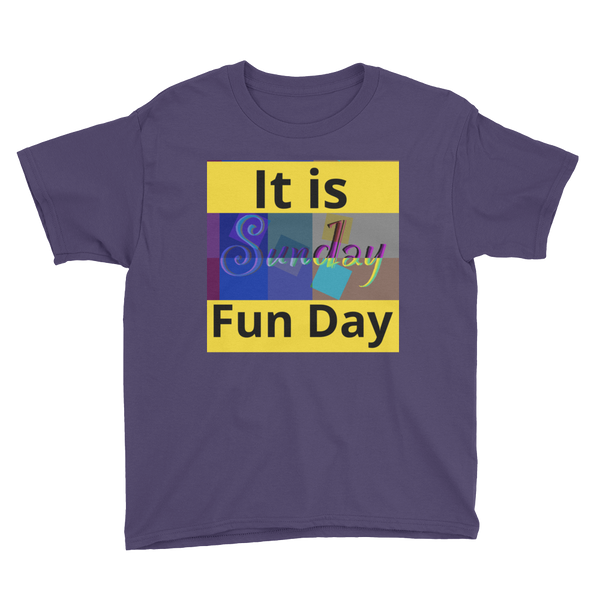 It Is Sunday Fun Day Youth Short Sleeve T-Shirt