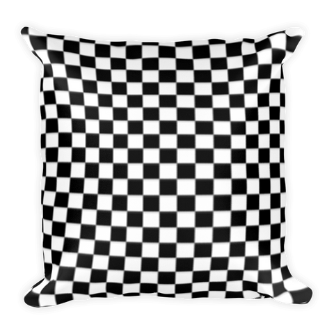 Checkered Square Pillow